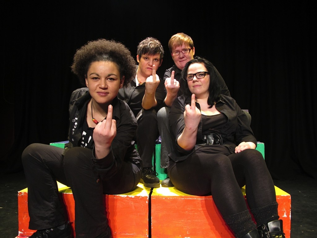 Lesbian Style cast: (left to right) Abby Oliveira, Michelle Wiggins, Claire Dooher, Mel Bradley